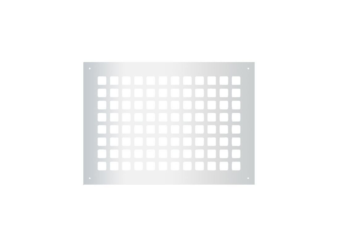 """Reggio Registers G1014-SNH Grid Series 12"""" x 8"""" Floor Grille without Mounting Ho"""