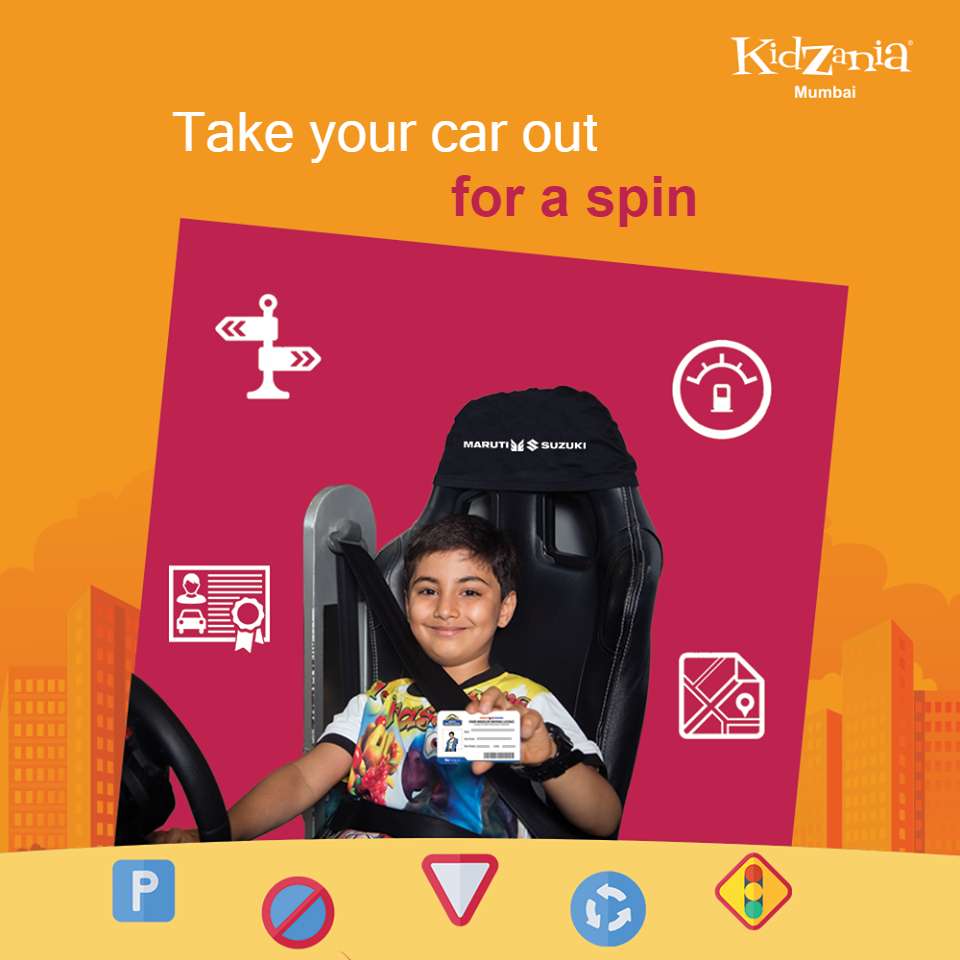 Kids can get their first driving license at the Driving