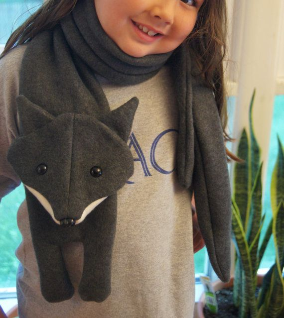 PATTERN: Fleece fox scarf...perfect for that foxy person in your ...