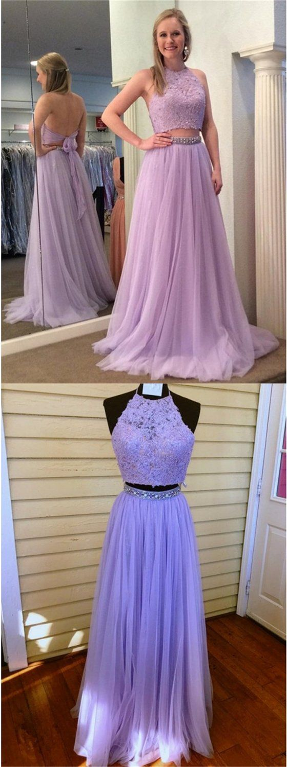 pieces lace tulle prom dresses beaded prom dresses lilac prom