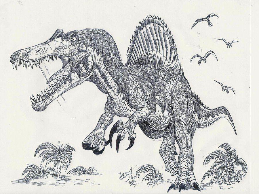 Asombroso Parque Jurásico Spinosaurus Para Colorear Embellecimiento ...