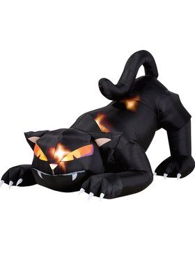 Inflatable Black Cat With Turning Head