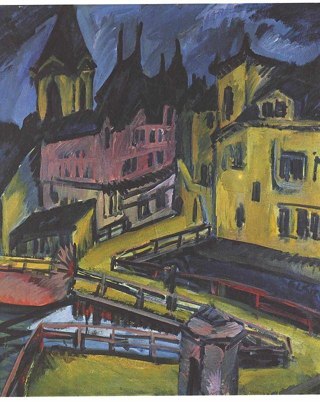Kirchner - Pfortensteg Chemnitz - Ernst Ludwig Kirchner - Wikimedia Commons