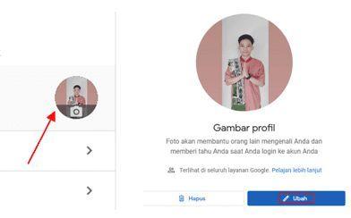 mengganti foto profil di meet