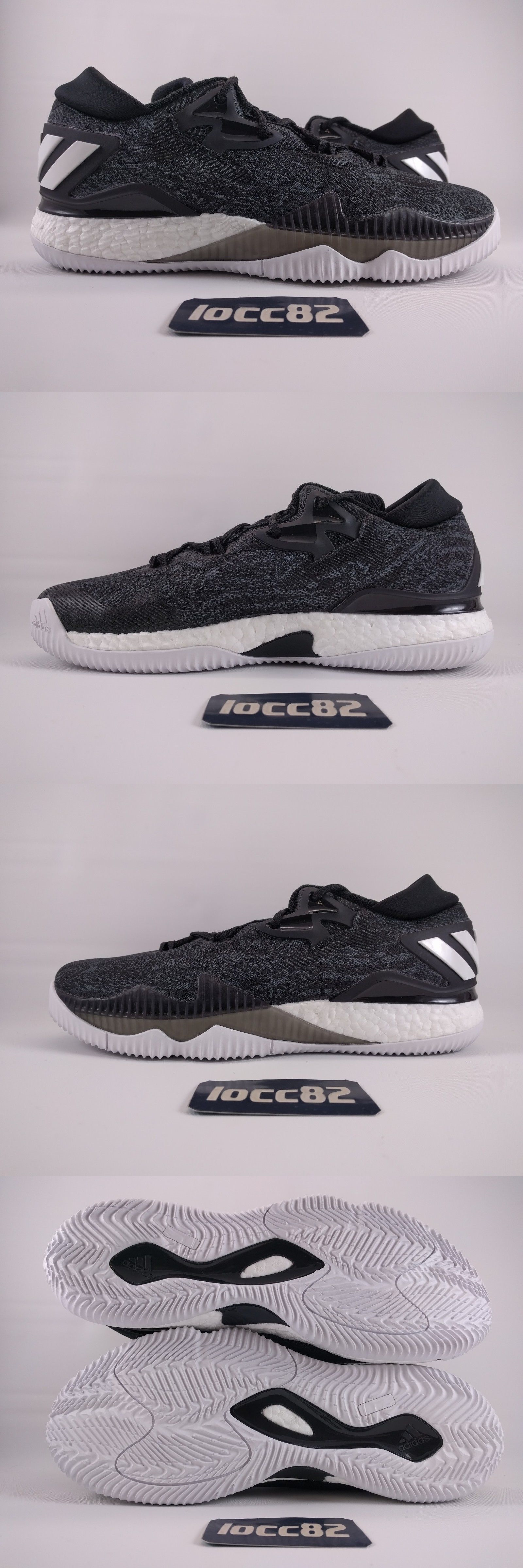 Adidas crazylight boost low 2016 bred black red mens basketball shoes - Basketball Adidas Mens Crazylight Boost 2016 Basketball Shoes Sz 10 B42722 Black White