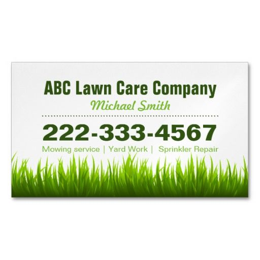 Lawn care grass cutting business card | Best Lawn care, Lawn and ...