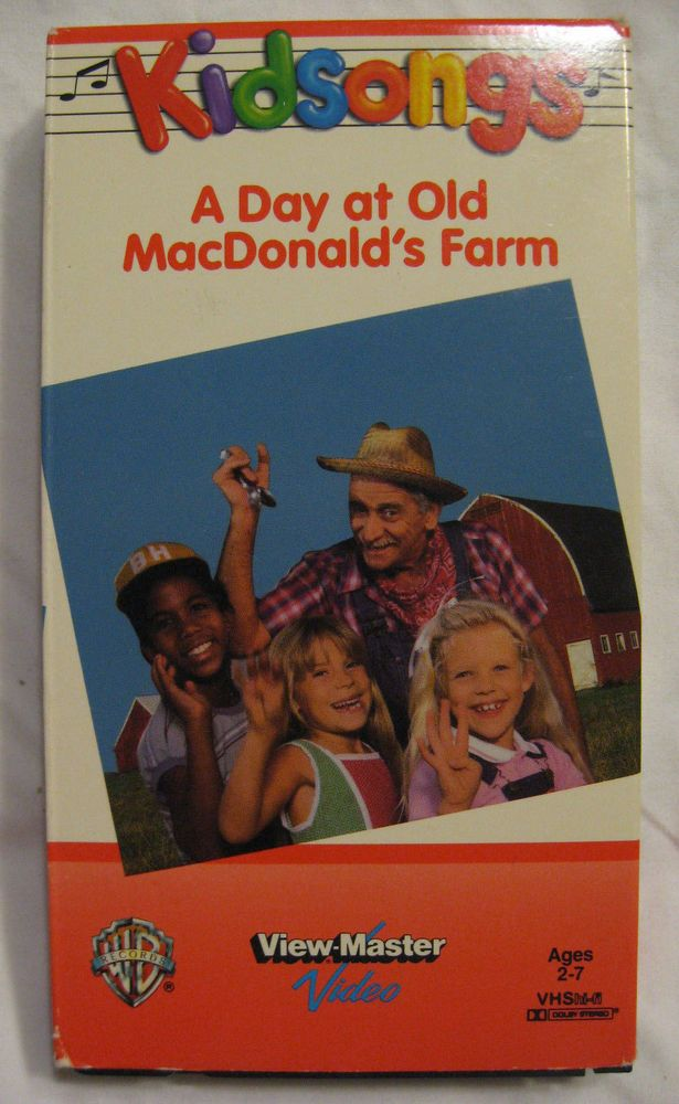 Kidsongs VHS Tape A Day At Old MacDonalds Farm 1985 | Vhs tapes