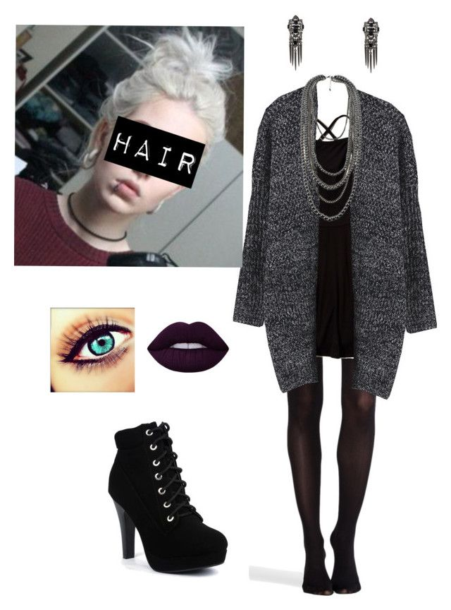 """""""Untitled #119"""" by xxbrokendollxx on Polyvore featuring SPANX, Hollister Co., Lime Crime and Ben-Amun"""