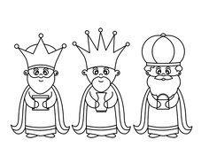 Dibujo De Los 3 Reyes Magos Para Colorear Reyes Magos