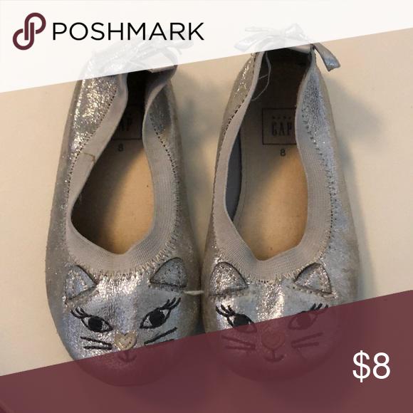 Sparkle cat shoes Gap kids Cat slip ons