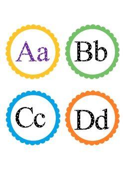 Alphabet Badges and Word Wall Banner | Kindergarten! | Wall banner