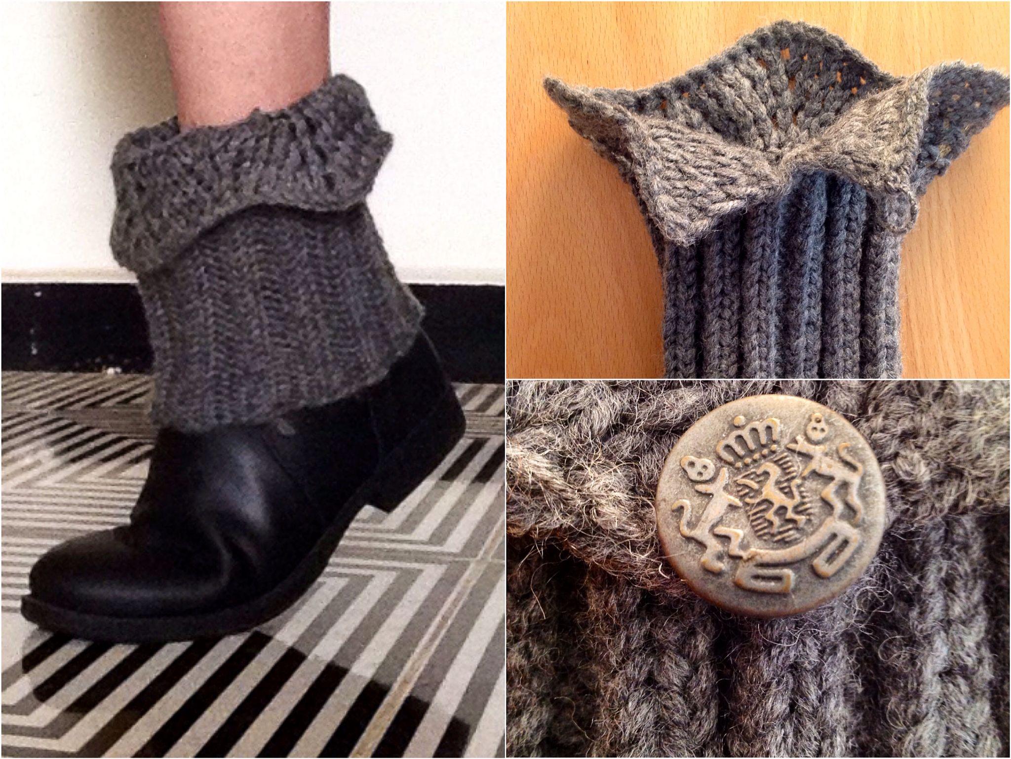 Woolen knit boot cuff - an original design by Off The Hook- KeKe ...