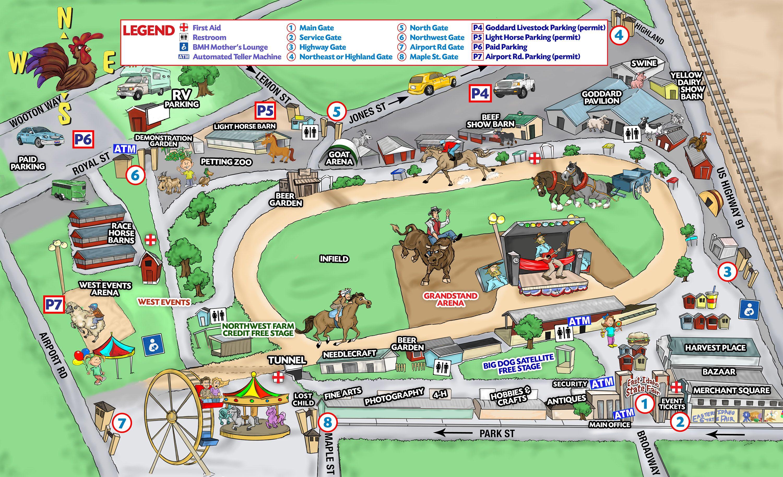 Fair map eastern idaho state fair idaho state state