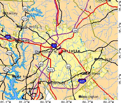 Map of Charlotte, NC   About Charlotte   Charlotte, North Carolina ...