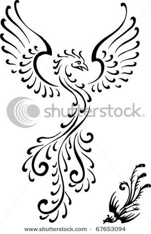 d0a93b00e9d15 Tribal Phoenix Maori Tattoo Stock Vector 67653094 Shutterstock ...