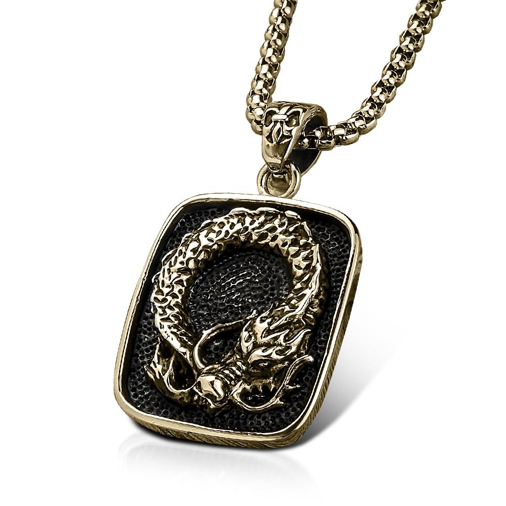 Daniel steiger dragons lair gold pendant july catalog
