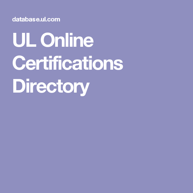 UL Online Certifications Directory | Architectural Codes/Code Issues ...