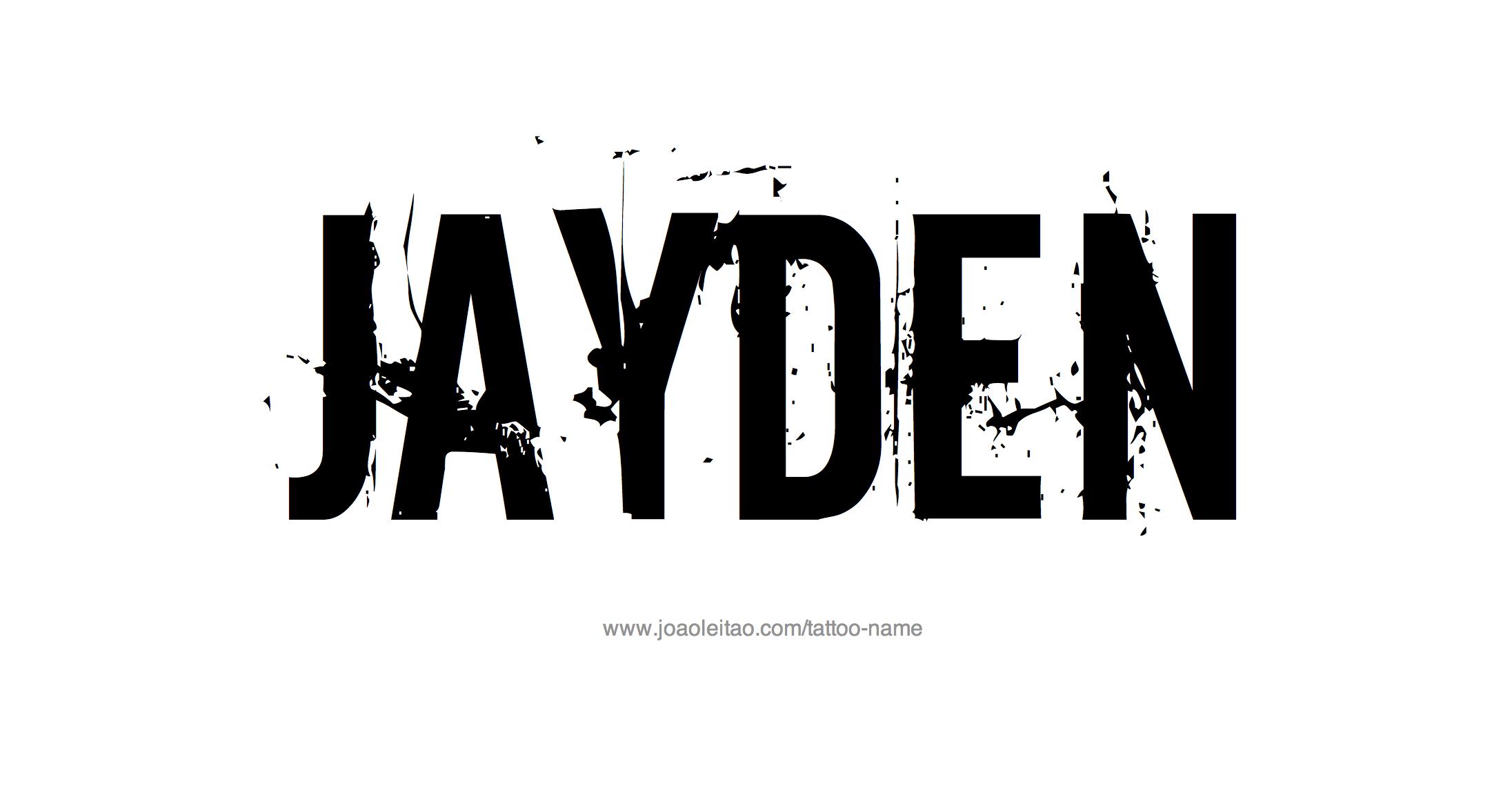 Jayden Name Tattoo Designs