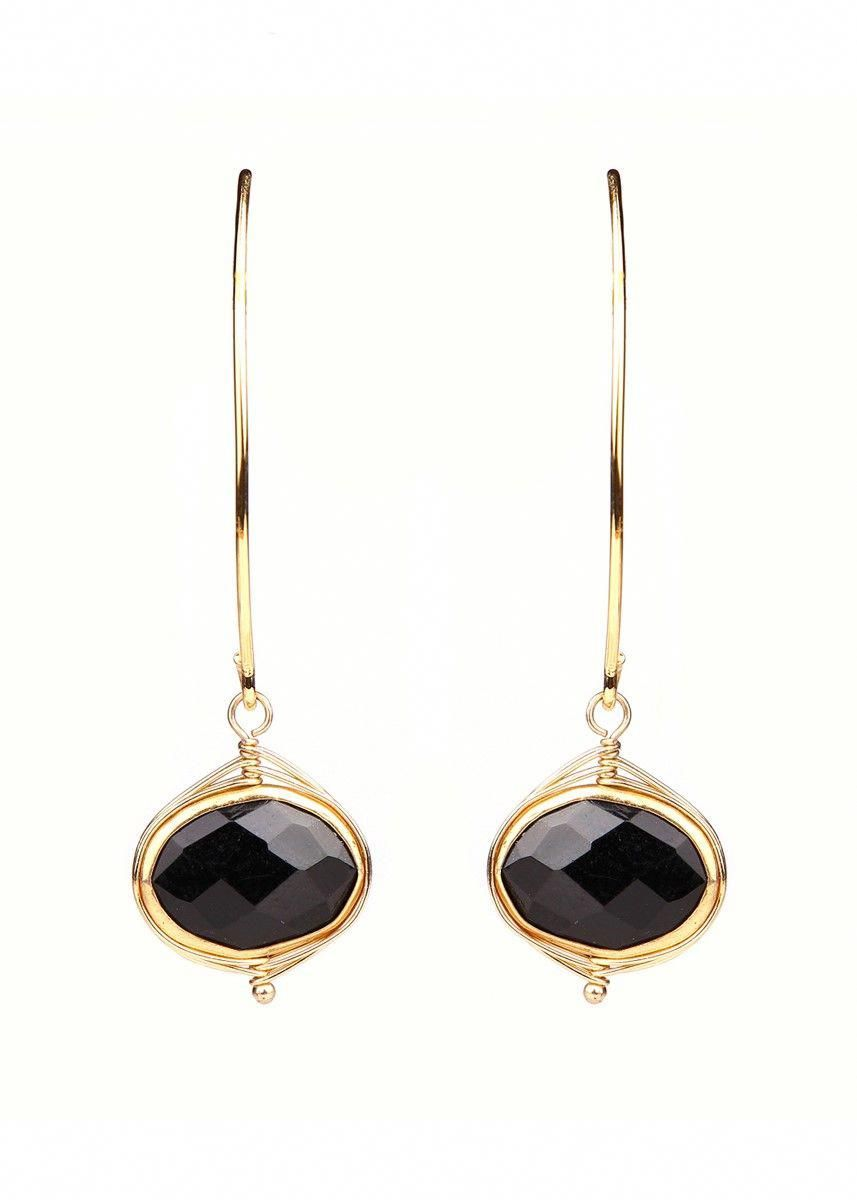 Wire wrapped black onyx earrings shop the stunning collection of