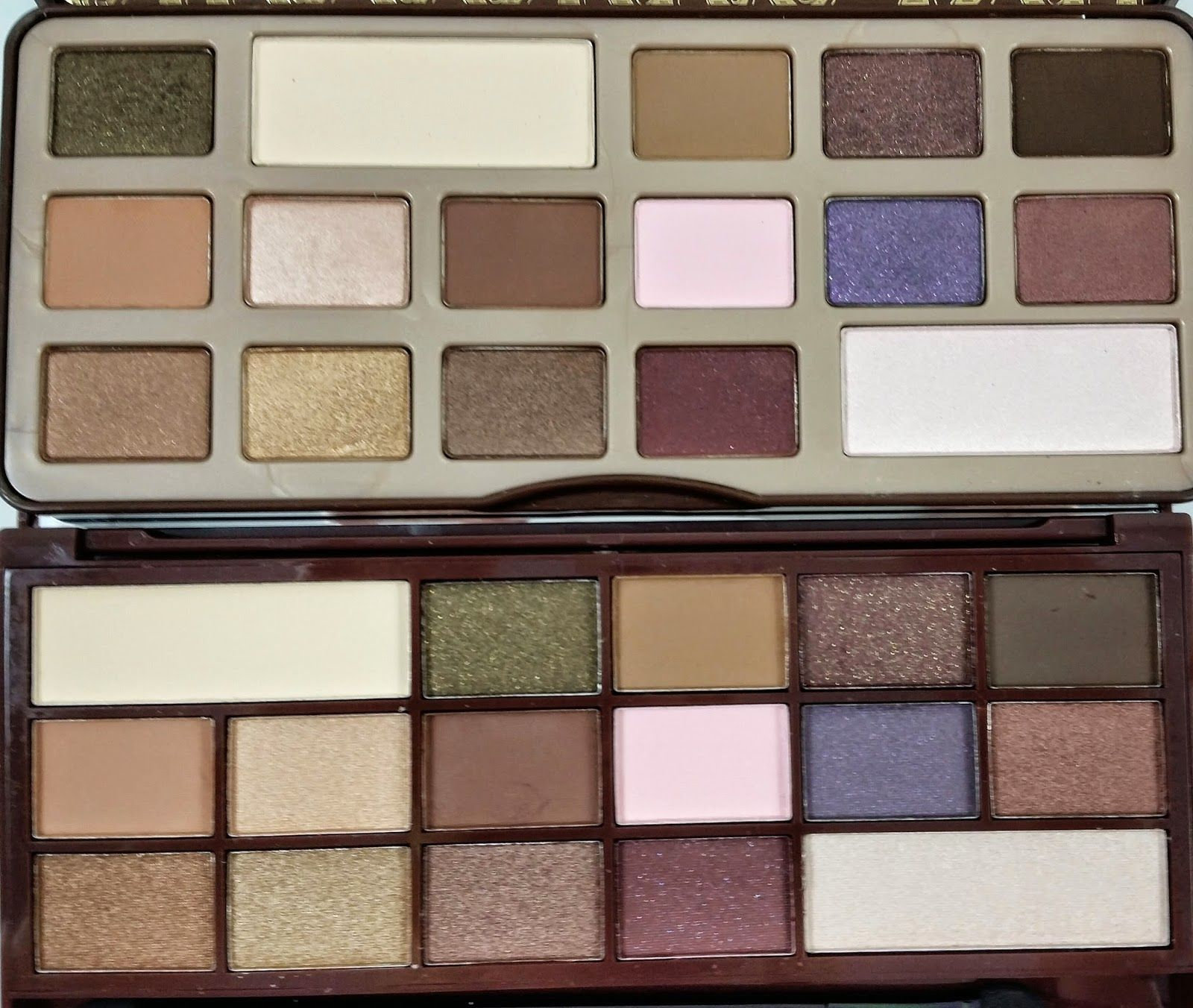 Makeup Revolution I Heart Chocolate Vs. Too Faced