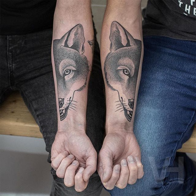 Valentin Hirsch's Symmetrical Skull & Animal Tattoo Collection