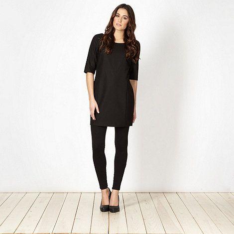 J by Jasper Conran Designer black jacquard tunic- at Debenhams.com ...