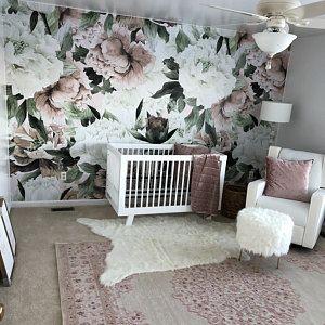 Removable Wallpaper Self Adhesive Wallpaper Vintage Floral Wallpaper and Birds Peel & Stick Wallpaper