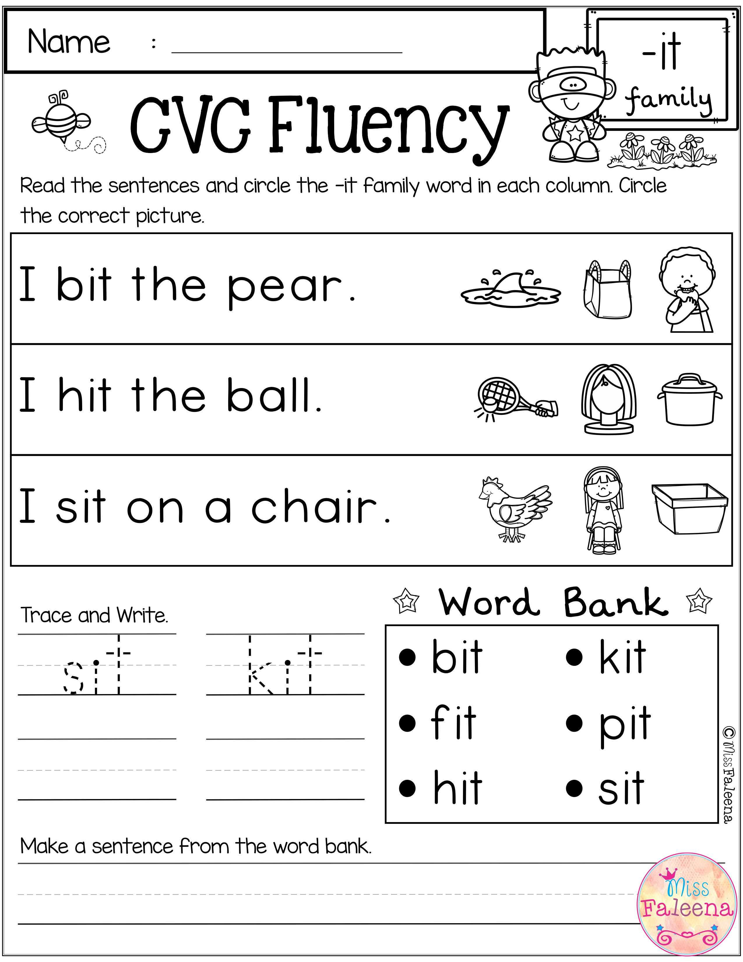 Free Cvc Fluency