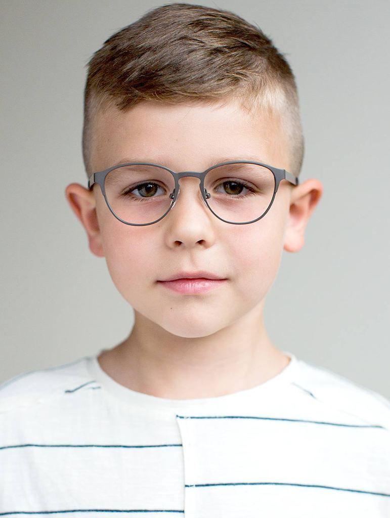 def07cd63e Durable Boys Glasses - Grey Metal Frames for Boys
