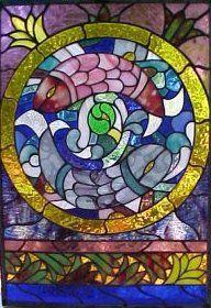 windows glass Asian art