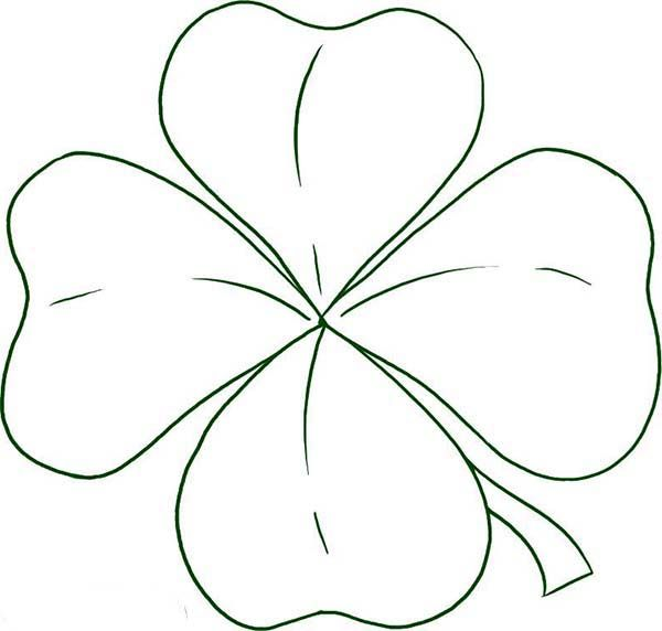 Four Leaf Clover Coloring Page Free