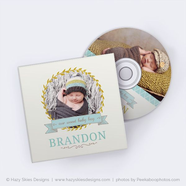 Cd label cd case templates for photographers photoshop cd dvd case template for photographers newborn baby kids children boy pronofoot35fo Gallery