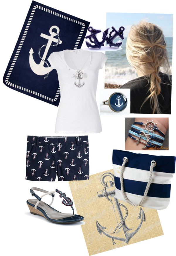"""""""Anchors away!"""" by serenahilton on Polyvore"""