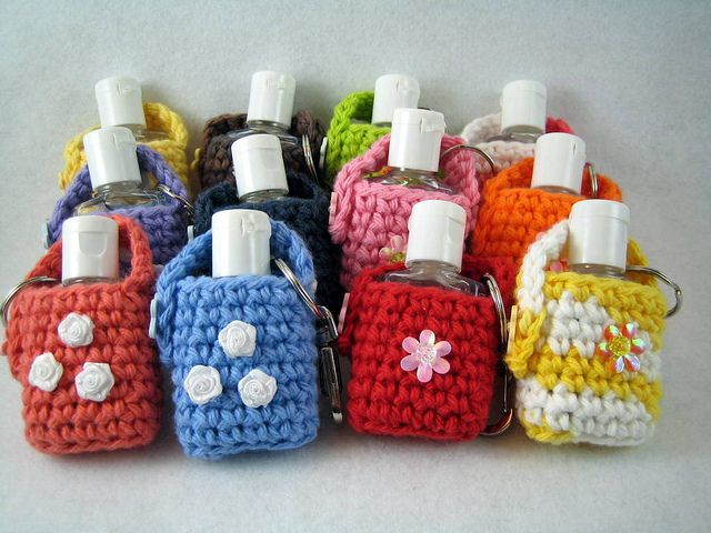 Hand Sanitizer Cozies Free Crochet Pattern Crochet Purse
