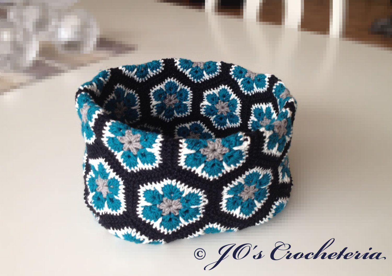 African Flower Bowl Crochet pattern by JOsCrocheteria on Etsy, kr30 ...