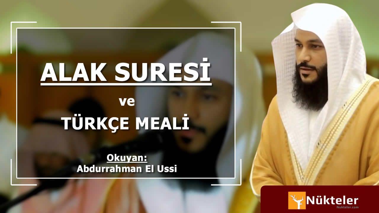Alak Suresi Turkce Latina Ve Mekke