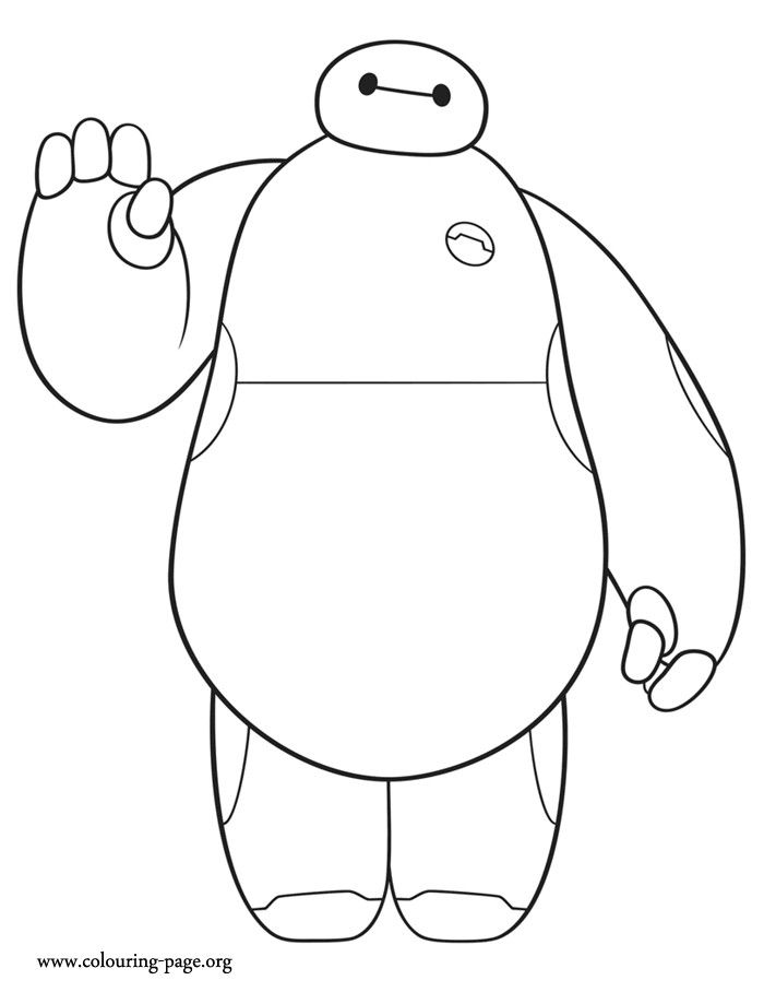 Baymax Is A Cute Character From Disney Big Hero 6 Movie How About To Print And Color This Amazing Coloring Sheet