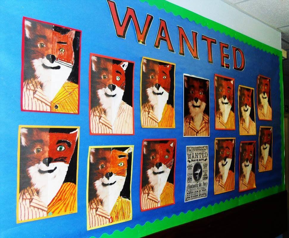 Fantastic Mr Fox Art Wanted Display Literacy Ideas