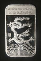Details About 2012 Year Of The Dragon Mint 1 Troy Oz 999 Fine Solid Silver Bar Sealed Lot 1a With Images Silver Bars Year Of The Dragon Silver