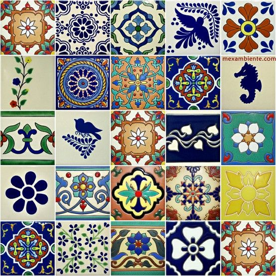 Mexican tiles in europe mexambiente mexikanische fliesen for Fliesen bemalen