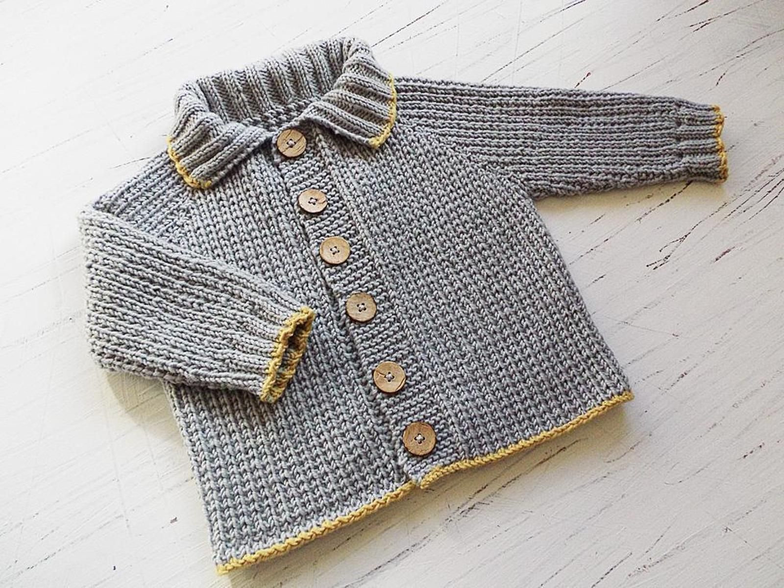Top Down Baby Sweater Knitting Patterns Easier - To Adjust Fit and ...