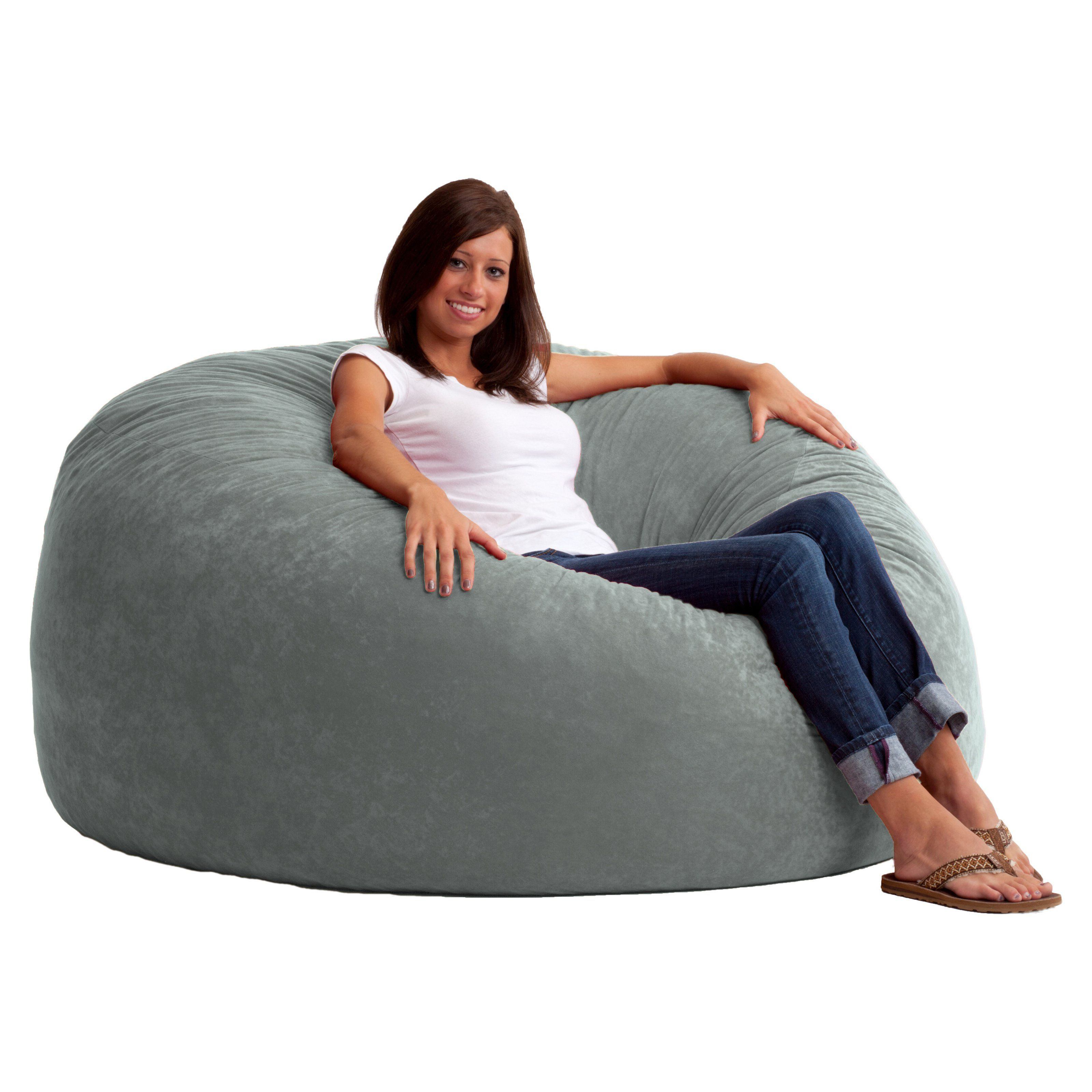 FUF 5 ft. King Comfort Suede Bean Bag Sofa No need to