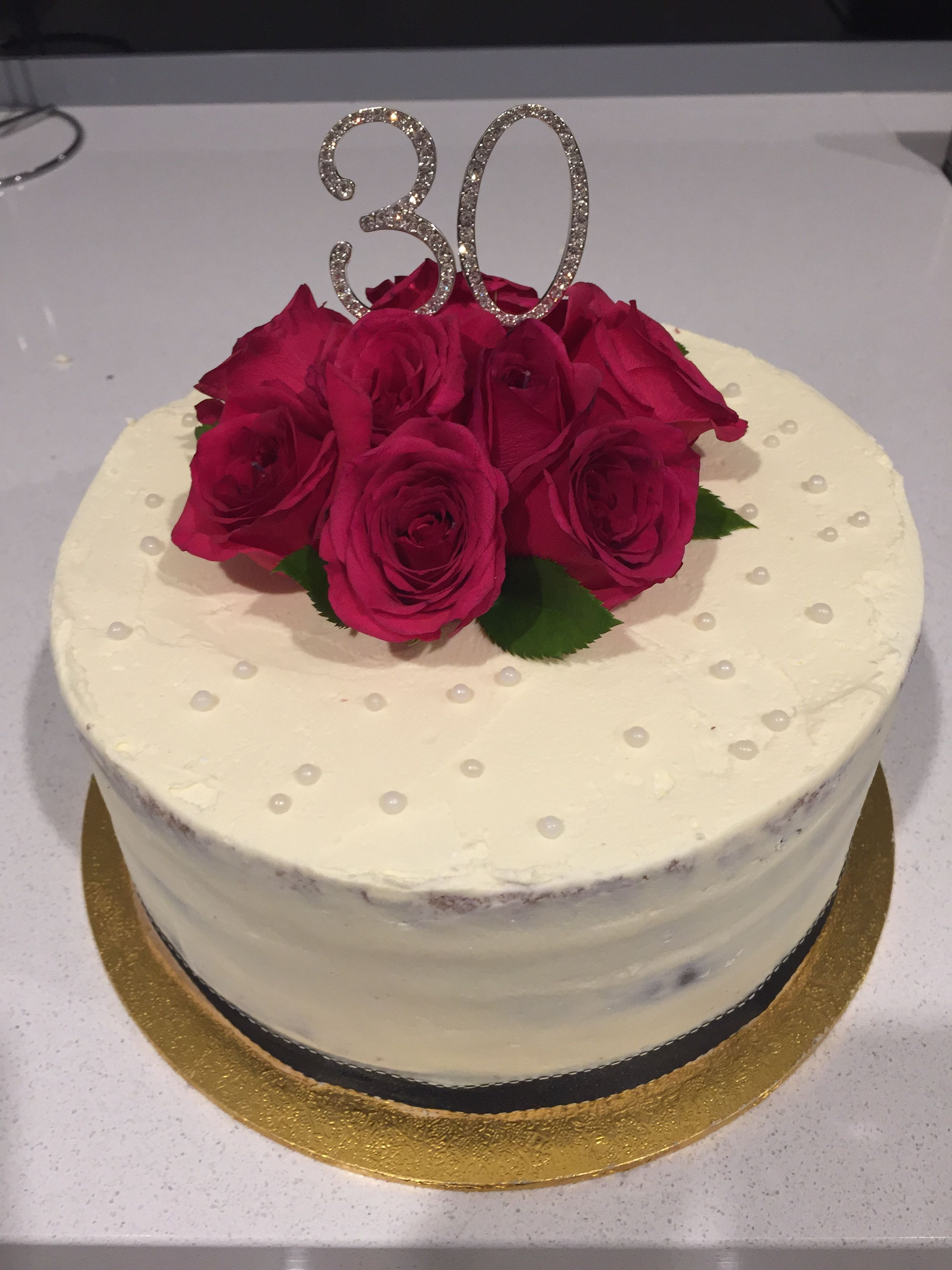 30th birthday semi naked cake with fresh roses cakes pinterest 30th birthday semi naked cake with fresh roses izmirmasajfo