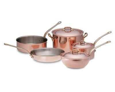 Mauviel Copper 8-Piece Cookware Set #WilliamsSonoma