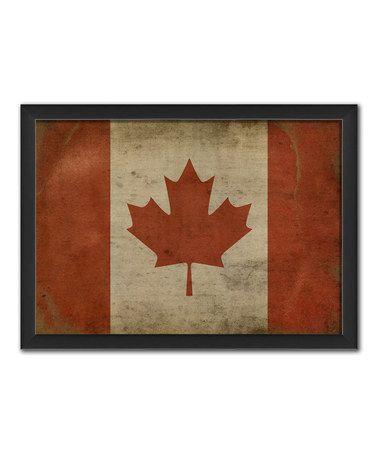 Canadian Flag Framed Print Framed Flag Art Graphic Art Print