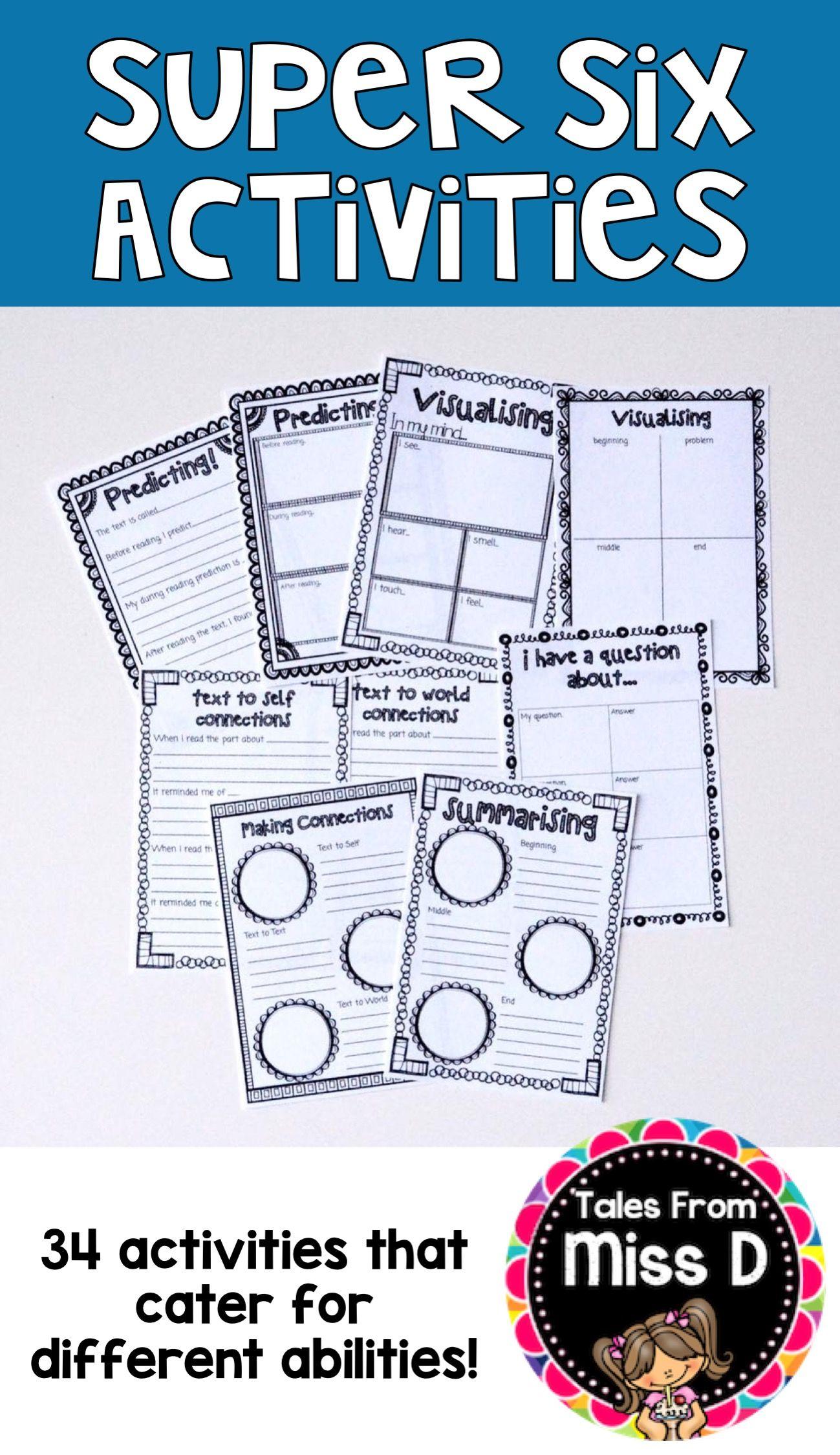 Super Six Comprehension Activities
