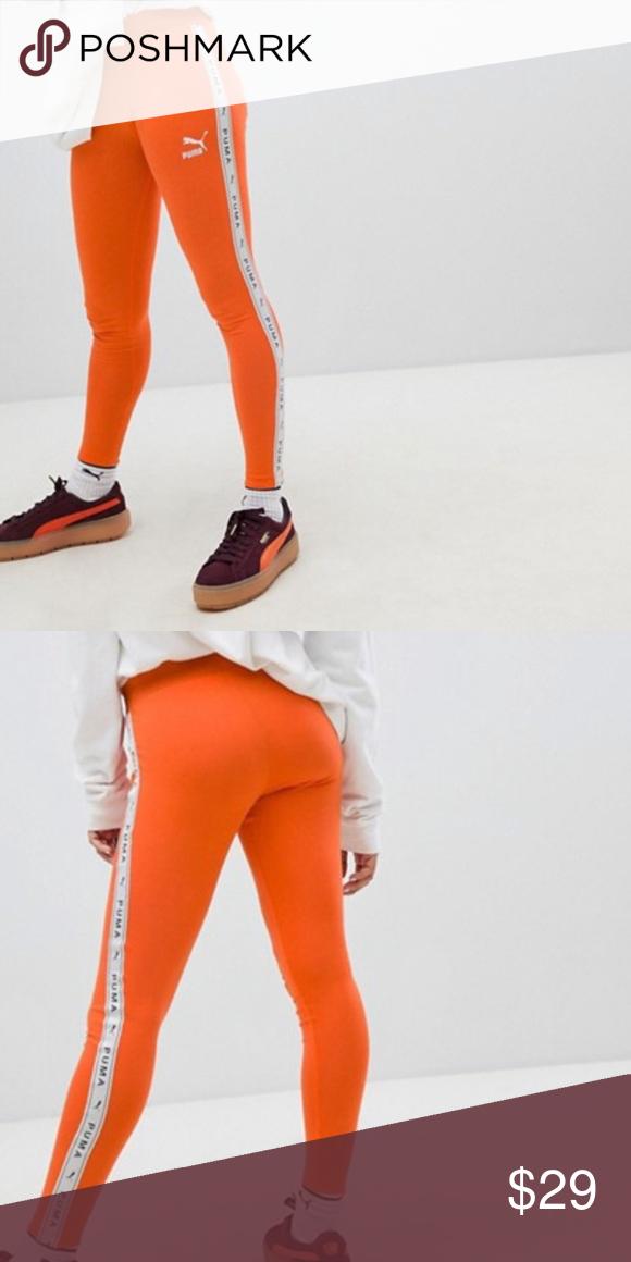 d5aefb7ee9f3bf Puma Orange Leggings Puma orange leggings in XXL but fit like a XL Puma  Pants Leggings