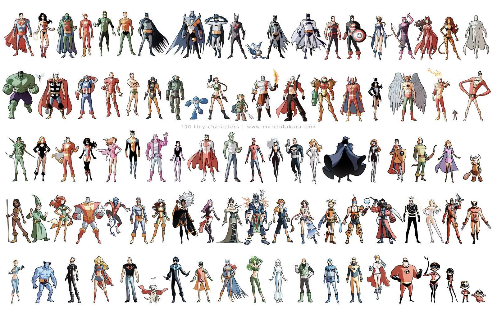супергерои список с картинками именами жарить