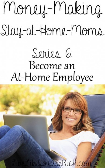 Part 6 of an excellent series on making money from home.  The other 5 are full of great ideas too.