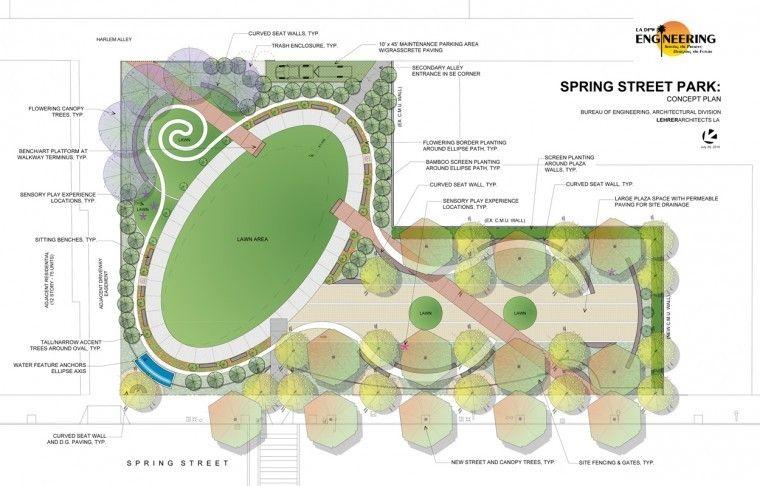 Spring Street Park Concept Plan Cong Vien Hinh ảnh